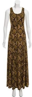 MICHAEL Michael Kors Snakeskin Print Maxi Dress