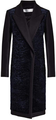 Victoria Beckham Victoria Coat with Velvet, Wool and Cashmere