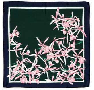 Moncler Floral Print Silk Scarf