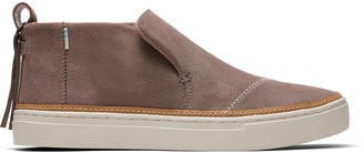 Taupe Gray Suede Women's Paxton Slip-Ons