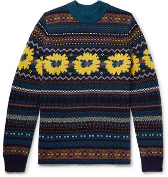 Sacai Fair Isle Wool-Jacquard Sweater