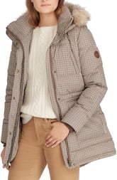 Lauren Ralph Lauren Faux Fur Trim Puffer Coat
