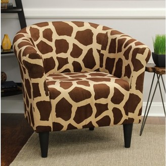 Mainstays Marlee Animal Printed Bucket Accent Chair