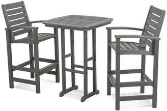 Polywood 3-piece Signature Outdoor Bar Chair & Table Set