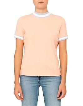 Alexander Wang High Twist Jersey Short Sleeve T-Shirt With Rib