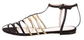 Nina Ricci Suede Cage Sandals w/ Tags