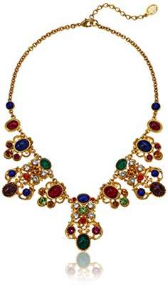 Ben-Amun Jewelry Victoria Multicolor Crystal and Glass Stone Pendant Necklace