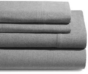GLUCKSTEINHOME Flannel Heathered Cotton Sheet Set