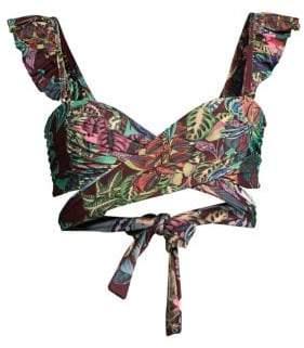 PatBO Samba Ruffle Bikini Top