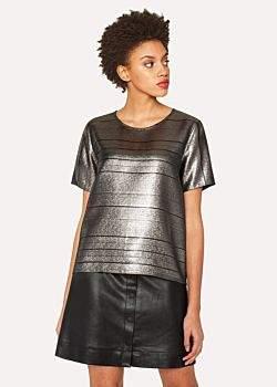 Paul Smith Women's Short-Sleeved Metallic Top