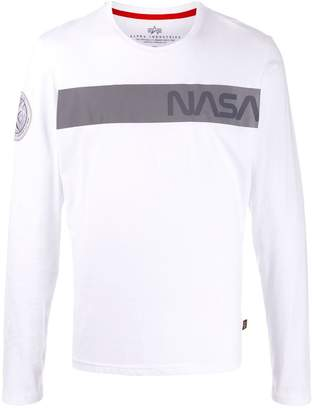 Alpha Industries long sleeved cotton T-shirt