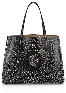 Alaia Women's Medium Mina Studded Leather Tote