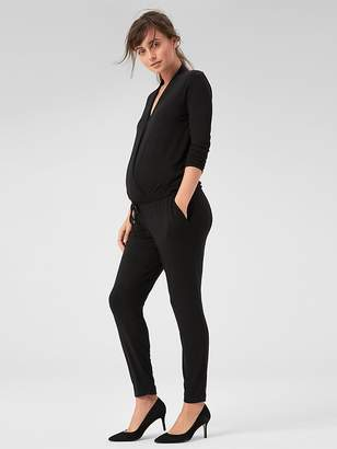 Gap Maternity Long Sleeve Wrap Jumpsuit