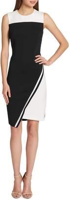 Tommy Hilfiger Asymmetrical Hem Sheath Dress