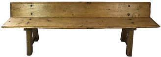 One Kings Lane Vintage Spanish Pine Bench - Heather Cook Antiques