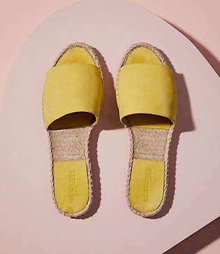 Lou & Grey Mint & Rose Olivia Suede Slide Sandals