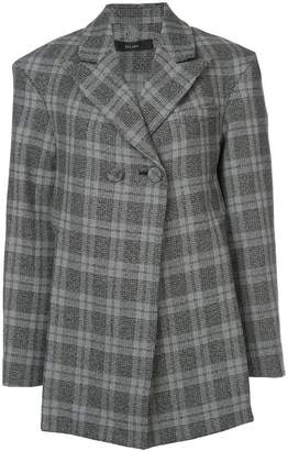 Ellery open back checked blazer