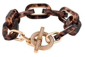 Michael Kors Tortoise Link Pavé Toggle Bracelet