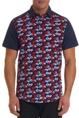 Robert Graham Men's Pacific Union Classic Fit Seersucker Short-Sleeve Sport Shirt
