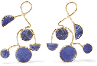 Paola Vilas - Ray Gold-plated Sodalite Earrings - Blue