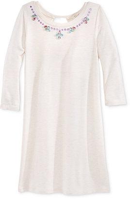 Jessica Simpson Embellished-Neck Dress, Big Girls (7-16) $44.50 thestylecure.com