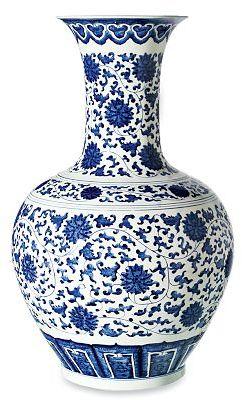 Blue & White Chrysanthemum Gourd Vase
