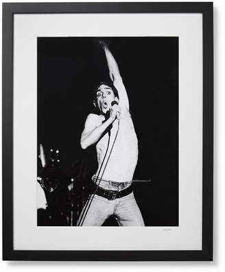 Sonic Editions Framed 1977 Iggy Pop In Manchester Print, 17 X 21