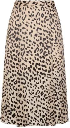 Alice + Olivia Athena Leopard Spot Midi Skirt