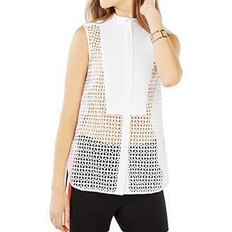 BCBGMAXAZRIA Women's Keleigh Sleeveless Button-Front Shirt