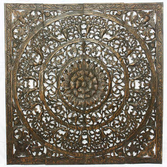 Bungalow Rose Wall Panel in Reclaimed Teak Wood Wall Dcor