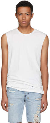 Ksubi White Sioux Muscle Tank Top