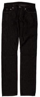 Versace Linen-Blend Slim-Fit Jeans