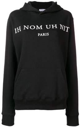 Ih Nom Uh Nit logo print hoodie
