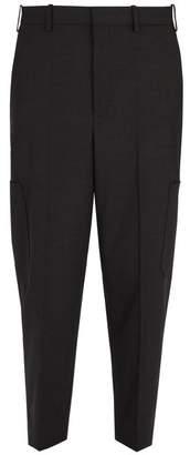 Neil Barrett Wool Blend Cargo Trousers - Mens - Black