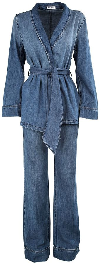 Equipment Equipment Lafayette Cotton-denim Pajama Set
