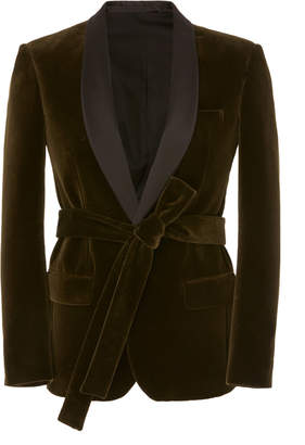 Balmain Self-Tie Belted Blazer