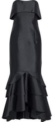 Sachin + Babi Strapless Ruffled Duchesse Satin Gown