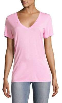 Cotton Citizen Women's The Classic V-Neck Tee - Pastel Lemon - Size Small