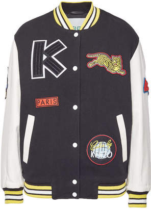 Kenzo Varsity Jacket with Wool and Leather