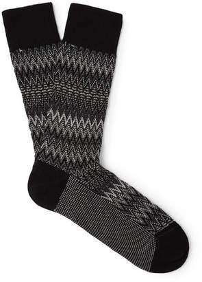 Missoni Crochet-Knit Cotton-Blend Socks