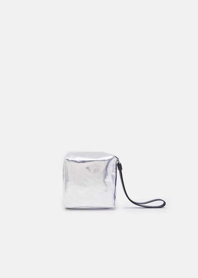 Proenza Schouler Soft Metallic Leather Mini Cube Bag