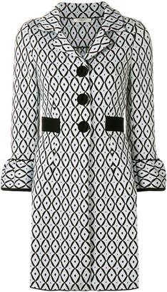 Charlott two-tone print coat
