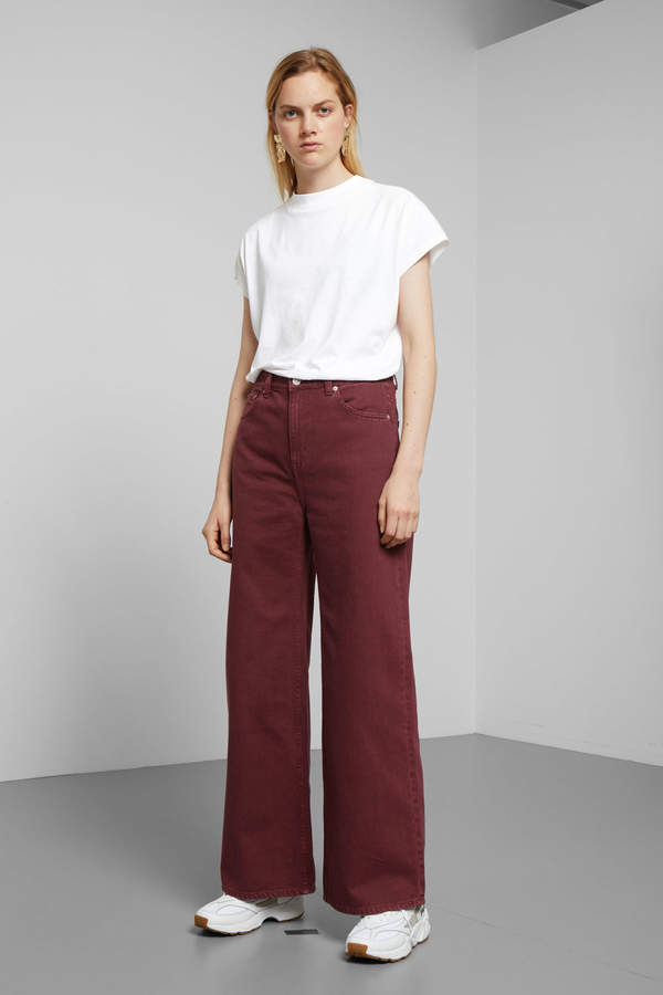 Ace Burgundy Jeans - Red
