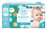 The Honest Company Trains/Breakfast Size 2 Club Box Diapers