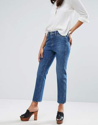 MiH Jeans Mid Rise Straight Leg Crop Cult Jean