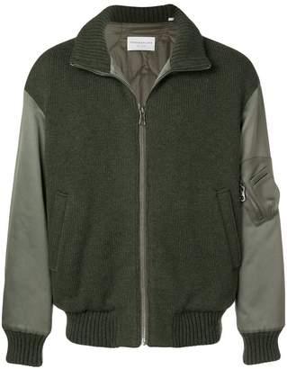 TOMORROWLAND contrasting sleeve bomber jacket