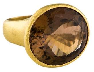 Elizabeth Locke 18K Tourmaline Cocktail Ring