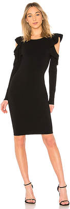 Milly Cut Out Flounce Fitted Sheath