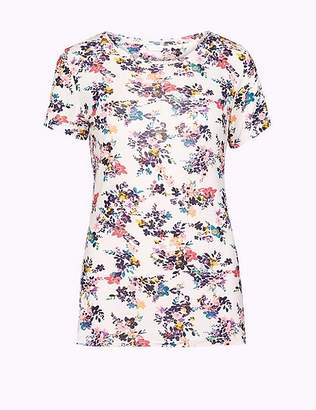 Marks and Spencer Floral Print Short Sleeve Pyjama Top