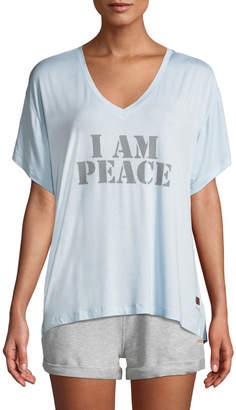 Peace Love World Mia V Peace Comfy Slogan Tee